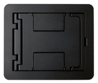 FPBTCBK WIREMOLD BLANK BLACK COVER ASSEMBLY