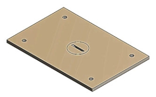 P-64-1/2 T&B BRASS COVER PLATE 78599163100