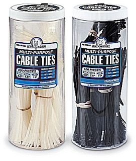 90650IUV BLACK CABLE TIE ASSORTMENT PACKED IN JAR