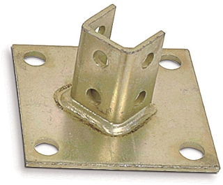 B-924 POST BASE CONNECTOR GOLD/GALV