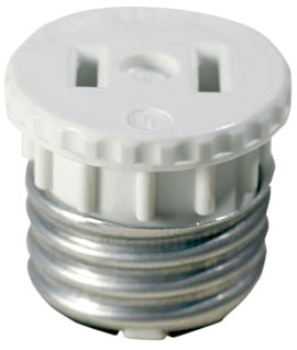 125 LEV LAMPHOLDER-TO-OUTLET ADPT