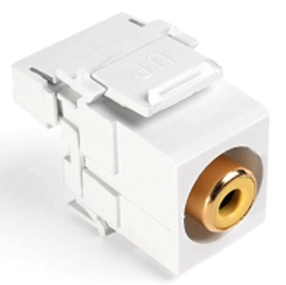 40735-RYW LEV RCA 110 VIDEO SNAP IN CONN WHITE