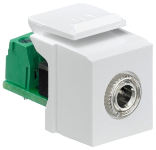 40839-SWS LEVITON MOD 3.5MM F-S WHITE 07847734301