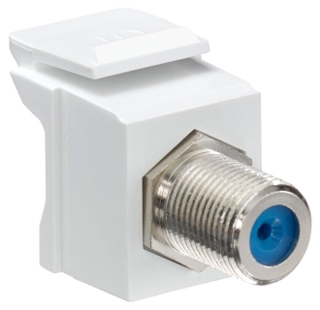 41084-FWF LEV F-TYPE SNAP-IN - QUICKPORT WHITE