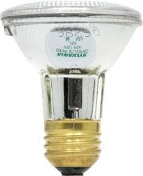 39PAR20/HAL/SP10-130V SYLVANIA TUNGSTEN HALOGEN PAR20 REFLECTOR LAMP 39WATT 130VOLT MEDIUM BASE SPOT10 BEAM 04613516108 16108