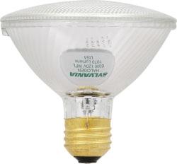 60PAR30/HAL/S/WFL50-120V SYLVANIA TUNGSTEN HALOGEN PAR30 SILVER REFLECTOR LAMP 60WATT 120VOLT MEDIUM BASE WIDEFLOOD50 BEAM 04613516129 16129 CASE/10