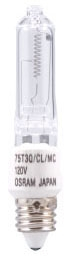 75Q/CL/MC/RP-120V SYL 75W T3 CLEAR 58884 E11 Minican Qtz Lamp