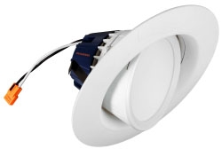 LED/RT5/6/G/900/827/FL80/RP 73466 SYLVANIA RECESSED DOWNLIGHT KIT MED BASE SOCKET ADAPTOR INCL. 4/case