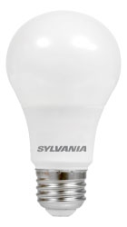 LED5.5A19DIMO827URP 74418 SYLVANIA LED A19, 5.5W, DIMMABLE, 80CRI, 450 LUMEN, 2700K, 15000 LIFE