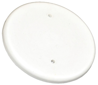 9315-WH ALLIED 4-1/2 IN ROUND BLANK COVER WHITE