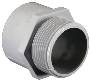 5140107 CANTEX E943H PVC MALE TERM ADAPTER 1-1/2