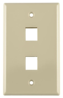 FPDUALI TYTON 2 PRT FLUSH FACEPLATE IVORY