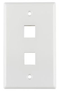 FPDUALW TYTON 2 PRT FLUSH FACEPLATE WHITE