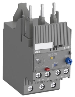 EF45-45 ABB ELECTRONIC OVERLOAD RELAY 600VAC 15-45AMPS 3POLES CLASS 10,20,30 1SAX221001R1102