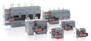 OS30FAJ12 ABB 3POLE 30A CLASS J FUSIBLE DISCONNECT SWITCH 1POLE LEFT/2POLES RIGHT OF MECHANISM