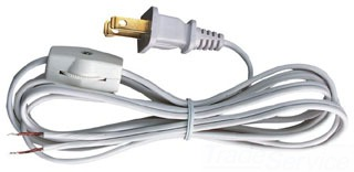 2330300 WESTINGHOUSE 8'CORD SET W/SWITCH BROWN