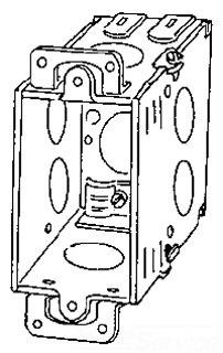 389 APP 2-3/4 DEEP SWITCH BOX W/EARS