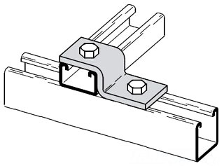 B106-42ZN B-LINE TWO HOLE Z-SUPPORT FOR B42 CHANNEL, ZINC PLATED 78101150063
