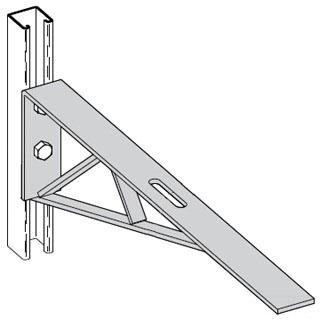 B192ZN B-LINE BRACKET, 24-IN., 9-IN. X 3-IN. SLOT, ZINC PLATED 78101151923