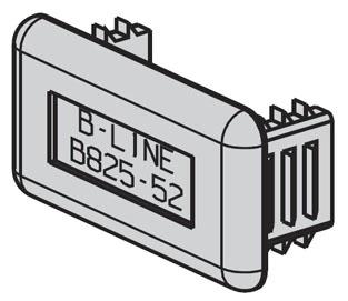 B825-52GRN B-LINE PLASTIC END CAP FOR 13/16