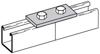 B129ZN B-LINE 2H SPLICE PLATE