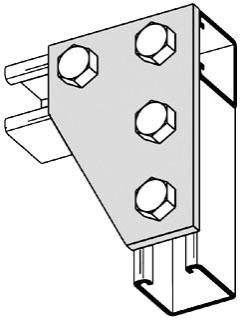 B142-ZN B-LINE CORNER PLATE