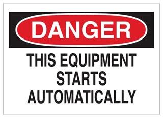 42562 BRADY MACHINE & OPERATIONAL SIGN 75447342562
