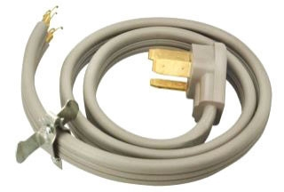 50A 4-WIRE 6' RANGE PIGTAIL CORD COLEMAN 09046