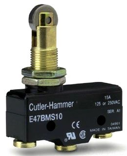 E47BMS10 CH PRECISION LIMIT SW, ROLLER PLUNGER, SCREW TERM