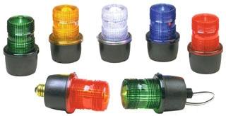 LP3M-012-048R FED STROBE LIGHT MALE PIPE MNT 12-48VDC RED 78297920778