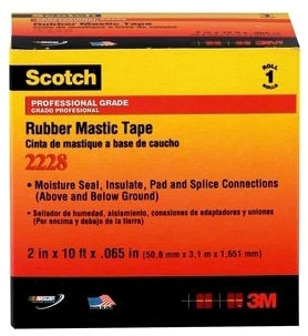 2228-1X10FT MMM 65MIL RUBBER MASTIC TAPE