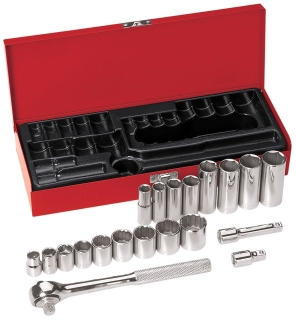 65508 KLE 20-PIECE 3/8IN DRIVE SOCKET SET