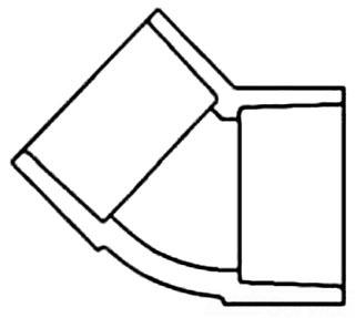 1/2 PVC SCH 40 SOC 45 ELBOW 417-005