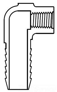 1X1/2 1407-130 COMB ELBOW 40 HIMAX