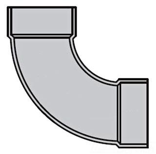1-1/2 PVC DWV 90 ELBOW 72815 4807