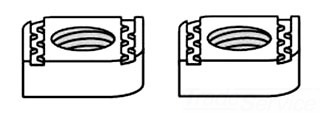 B-910-1/4 T&B CHANNEL NUTS