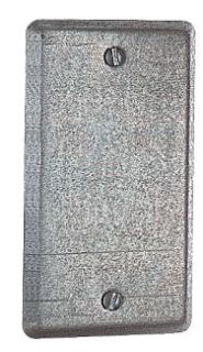58-C-1 T&B 4X2-1/8 BLANK UTILITY BOX COVER