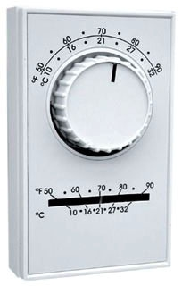 ETD5STS TPI SINGLE POLE, DOUBLE THROW, HEAT/COOL , WITH THERMOMETER LINE VOLT. THERMOSTAT 68633453886