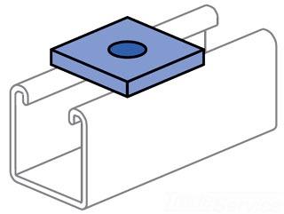 UNISTRT P1064HG 1/2-INCH FLAT PLATE FITTING HOT DIP GALVANIZED
