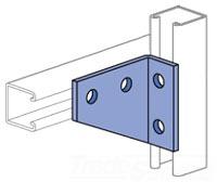 UNISTRT P1382EG 4-HOLE 90-DEGREE FITTING LEFT-HAND ELECTRO-GALVANIZED