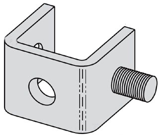 B400-1ZN B-LINE ONE STUD RING CONNECTION, ZINC PLATED 78101154834