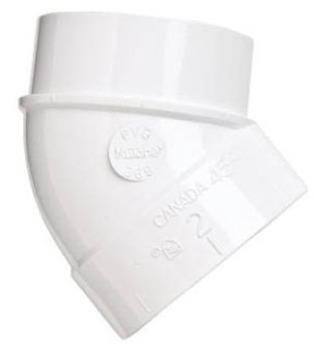 CF369 NUTONE 45 DEGREE STREET ELBOW