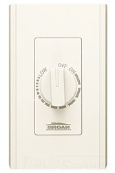 72V NUTONE ELECTRONIC VARIABLE SPEED CONTROL 6A 120V IVORY