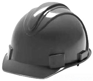 29430 CULLY WHITE RAM HARD HAT W/ADJUSTABLE RATCHET-OSHA COMPLIANT