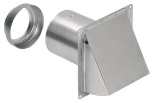 885AL NUTONE ALUM WALL CAP FOR 3 AND 4 ROUND DUCT