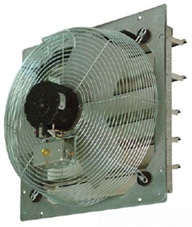 CE20DS TPI 20INCH DIRECT DRIVE SHUTTER MOUNTED EXHAUST FAN 2 SPEED 1/4 HP