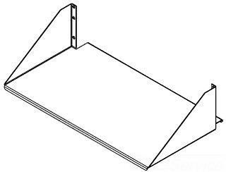 ESH19S HOF Single Side Shelf, Solid 78351035249