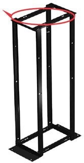E4DR19FM45U HOF 4 POST OPEN FRAME 7FT RACK 45RU BLACK