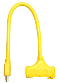 12/3 STW 2' YELLOW TRIPLE-TAP EXT CORD 04112