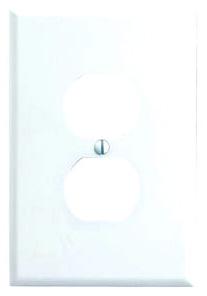 88103 LEV 1G PLATE W/1 DPLX RECEP OVERSIZE WHITE